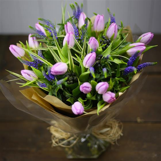 Lilac Tulips and Veronica